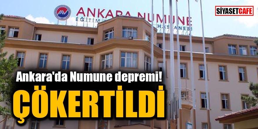 Ankara'da Numune depremi: Çökertildi