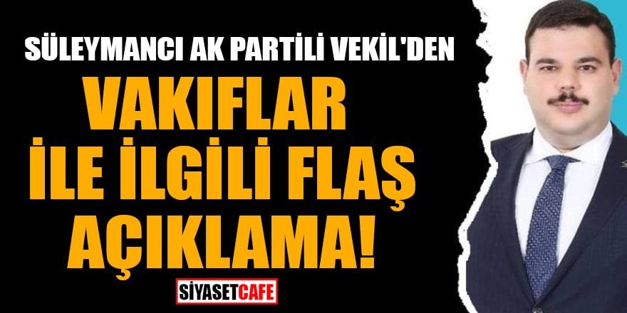 Süleymancı Ak Parti'li vekil Denizolgun'dan bütçe görüşmelerinde flaş açıklamalar!