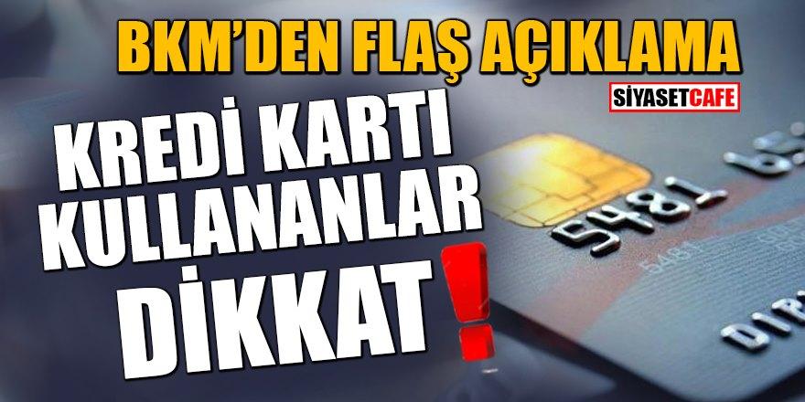 Bankalararası Kart Merkezi'nden çalıntı kredi kartı açıklaması