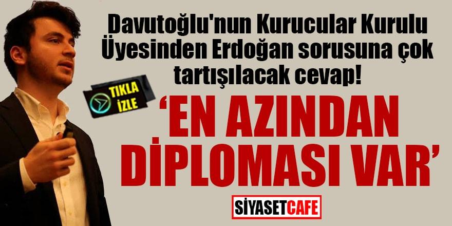 Davutoğlu'nun Kurucular Kurulu ÜyesindenErdoğan sorusuna çok tartışılacak cevap!