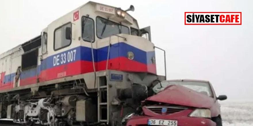 Kars'ta feci tren kazası: 3 ölü, 3 yaralı