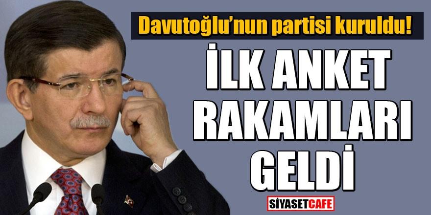 Davutoğlu'nun partisi kuruldu! İlk anket rakamları geldi