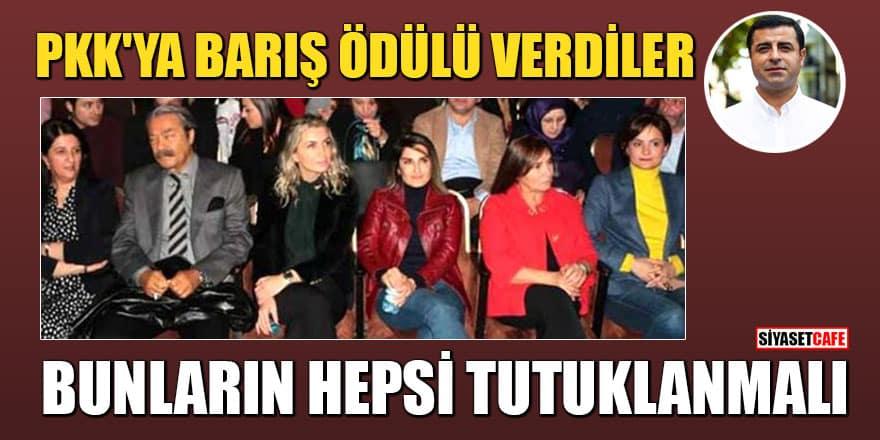 PKK'nın siyasi sözcüsü Demirtaş'a İnsan hakları ve Barış ödülü