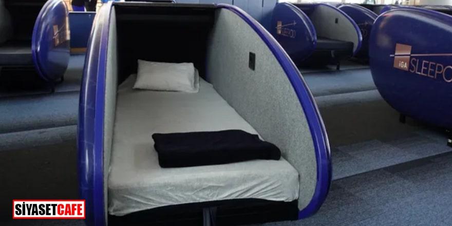 'Uyku kabini' uygulaması artık İstanbul Havalimanı'nda...