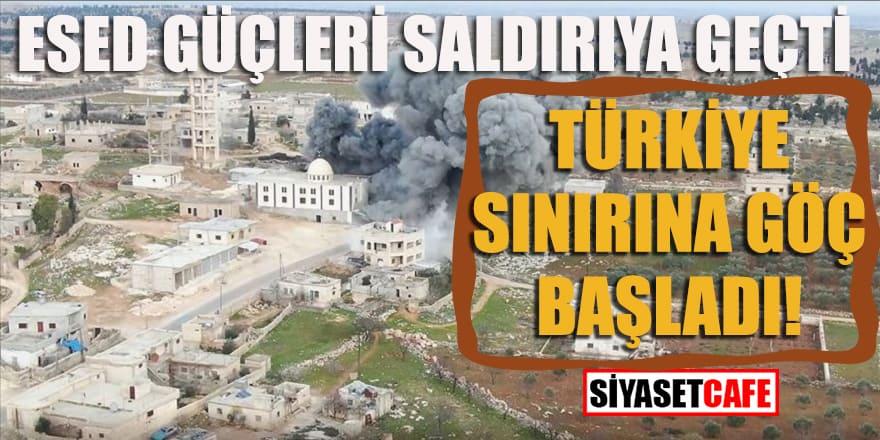 Esed güçleri saldırıya geçti: Türkiye sınırına göç başladı