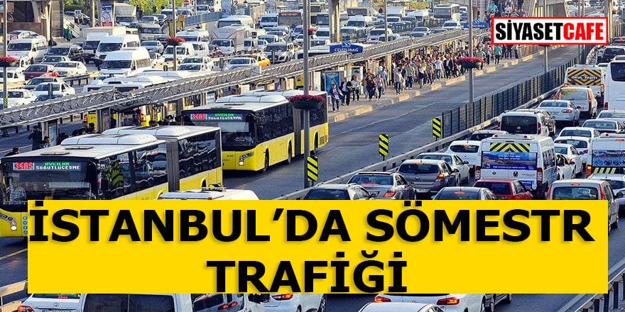 Son Dakika! İstanbul'da Sömestr Tatili Trafiği Çilesi