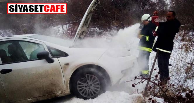 Van'da korkunç kaza:otomobil yandı!