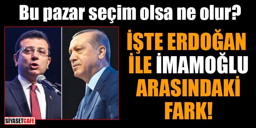 Bu pazar seçim olsa ne olur? İşte Erdoğan ile İmamoğlu arasındaki fark!