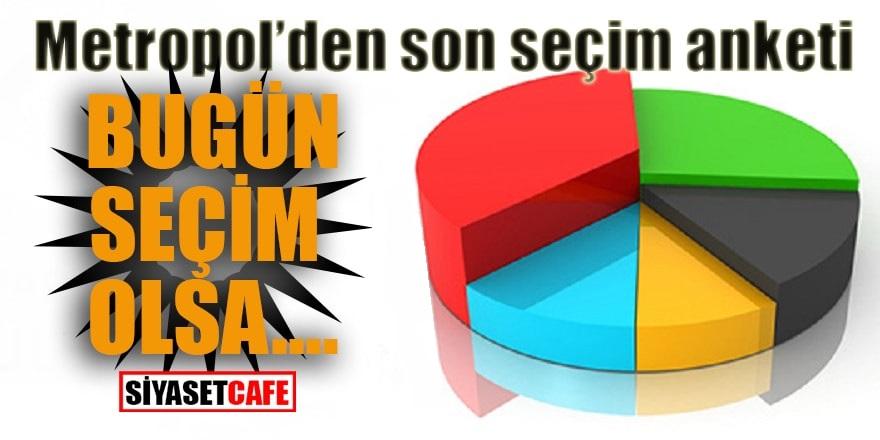 Metropoll'den son anket; Bugün seçim olsa Ak Parti, CHP, MHP, İyi Parti...