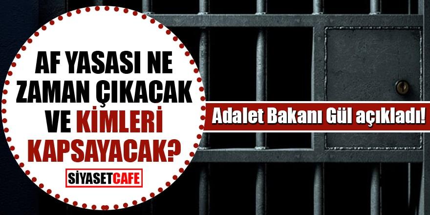 Af yasası ne zaman çıkacak ve kimleri kapsayacak? Adalet Bakanı Gül açıkladı!