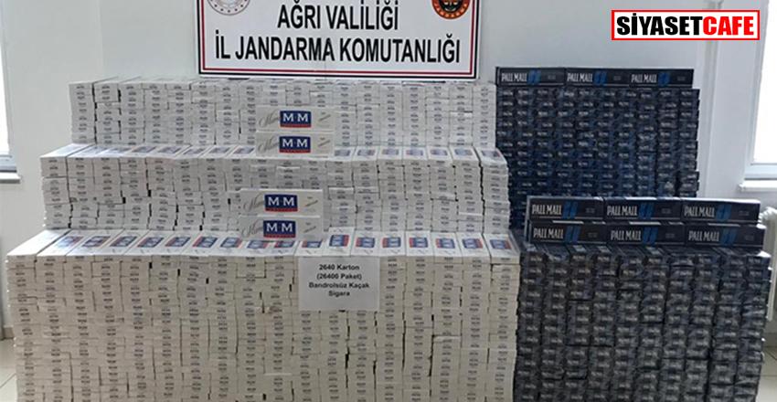 26 bin 400 paket kaçak sigara ele geçirildi