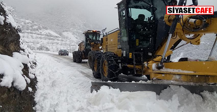 Amasya'da yoğun kar yağışı nedeniyle 84 köy yolu ulaşıma kapandı!