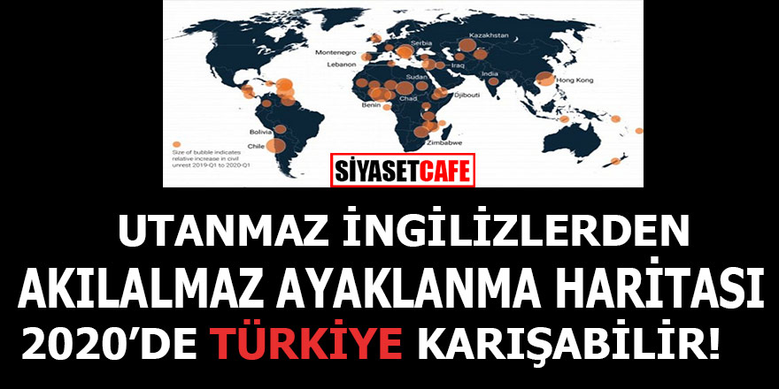 Utanmaz İngilizlerden akılalmaz ayaklanma haritası, haritada Türkiye de var!