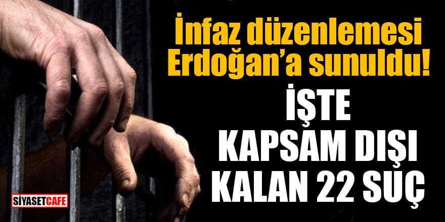 Cumhurbaşkanı Erdoğan'a sunulan yeni infaz düzenlemesinin detayları belli oldu