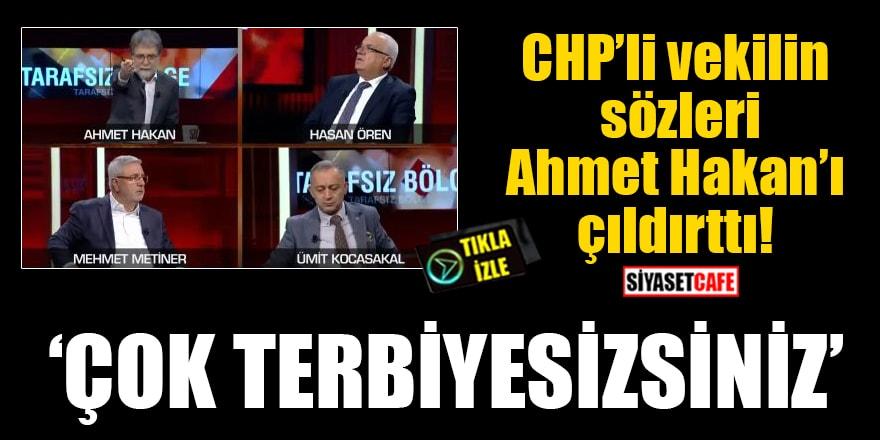 CHP'li vekilin sözleri Ahmet Hakan'ı çıldırttı: Çok terbiyesizsiniz!