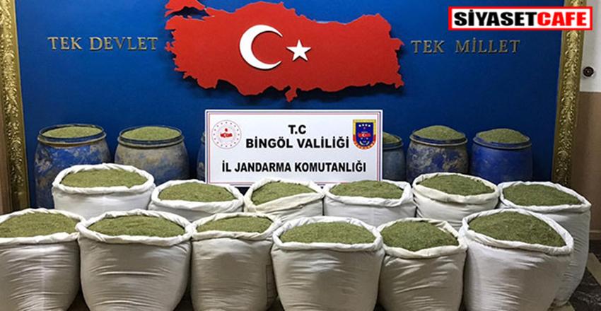 Diyarbakır'da uyuşturucu operasyonu:1 ton 351 kilo toz esrar ele geçirildi