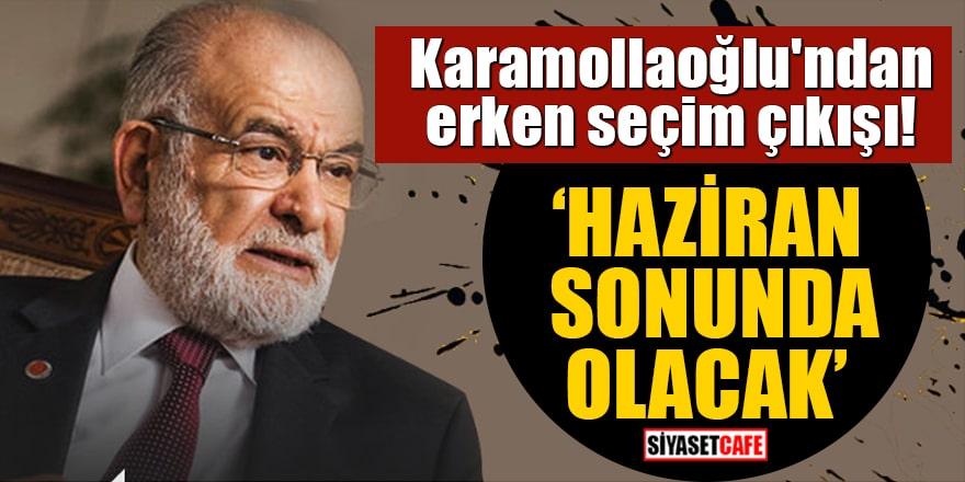 Temel Karamollaoğlu'ndan erken seçim çıkışı! 'Haziran sonunda olacak'