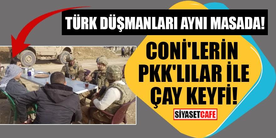 ABD askerleri Suriye'de PKK'lı teröristlerle çay içti