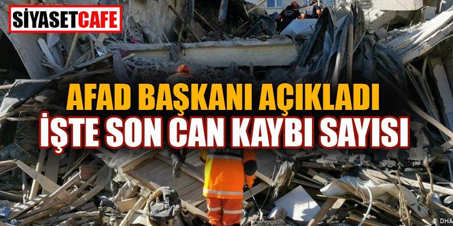 Depremde vefat edenlerin sayısı...