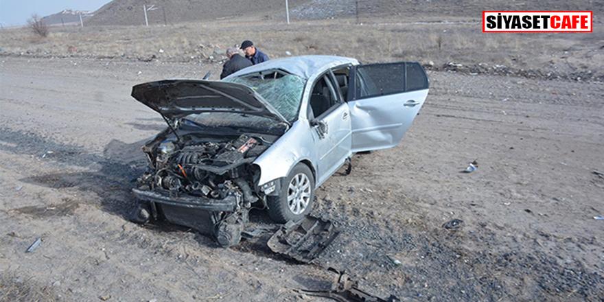 Kayseri'de feci kaza:4 kişi yaralandı.
