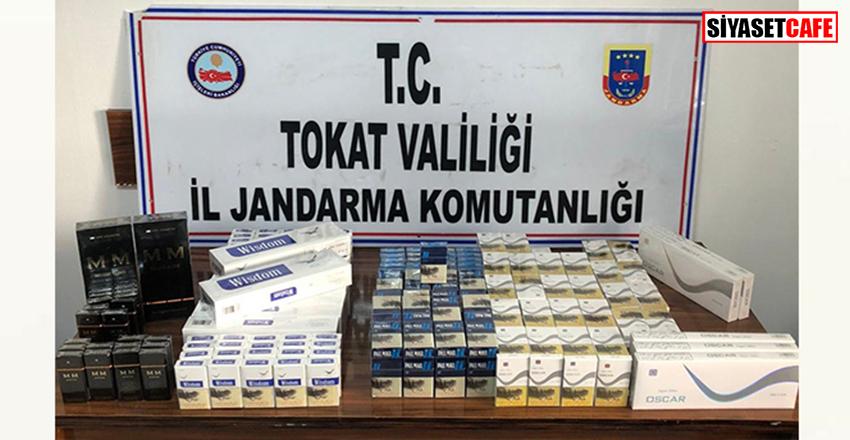 Tokat'ta valizlere zulalanmış halde 380 paket sigara ele geçirildi