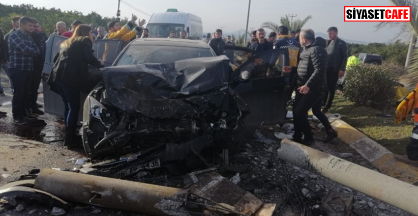 Hatay'da korkunç kaza:5 yaralı