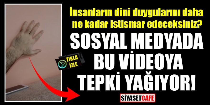 Sosyal medyada bu videoya tepki yağıyor! Depremden bakın nasıl korunacakmışız