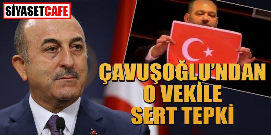 Bakan Çavuşoğlu, bayrağımızı yırtan Yunan vekili topa tuttu!