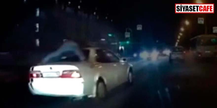 Polisten amansız takip: 3 kilometre aracın tepesinde gitti
