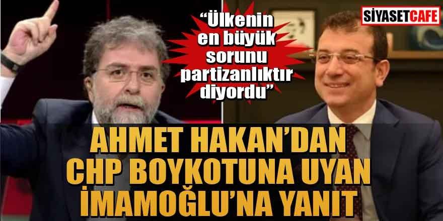 Ahmet Hakan programı iptal eden İmamoğlu'na: Çıkaracağını söylediği parti rozetini çıkarmamış
