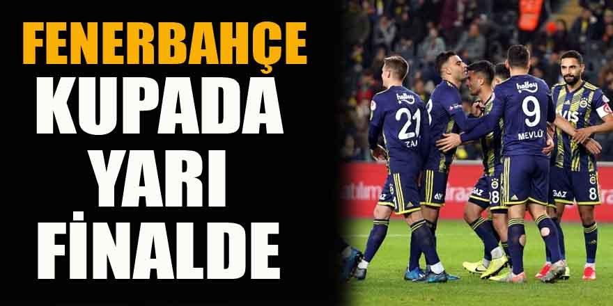 Fenerbahçe adını yarı finale yazdırdı: 1-0