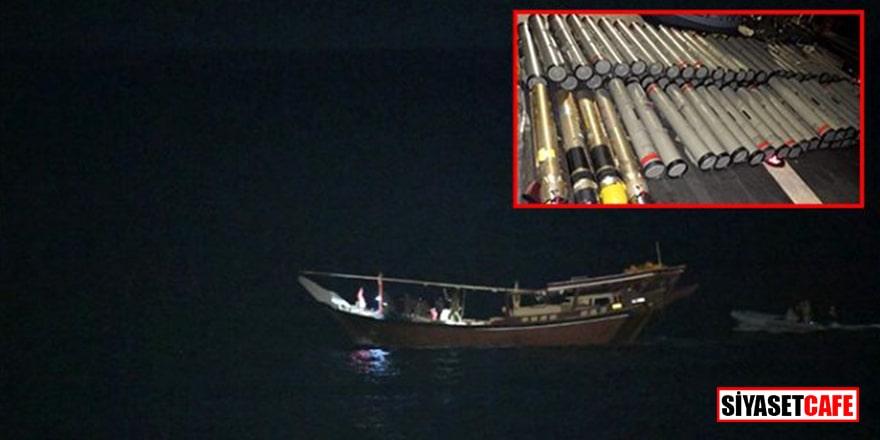 ABD silah dolu İran teknesine el koydu