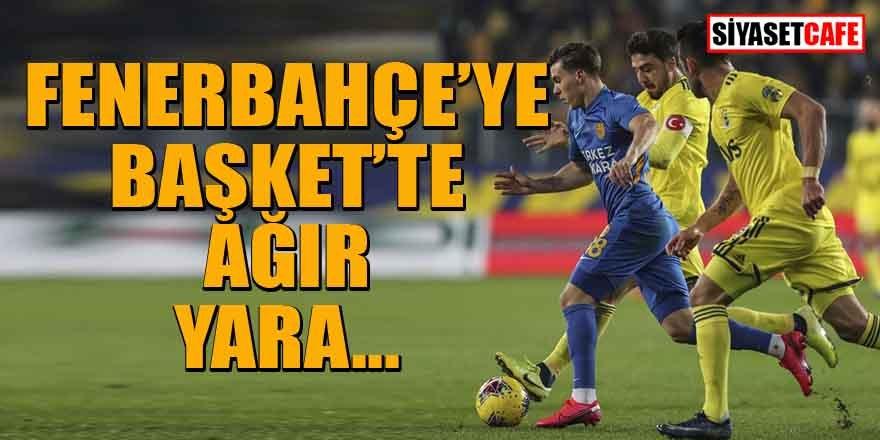 Fenerbahçe'ye Başkent'te ağır yara!