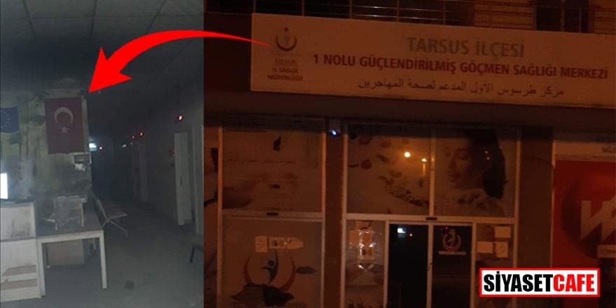 Mersin'de Göçmen Sağlığı Merkezi'ne molotof atıldı