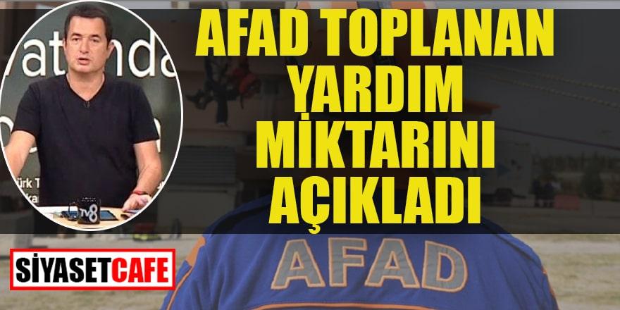 AFAD toplam yardım miktarını açıkladı
