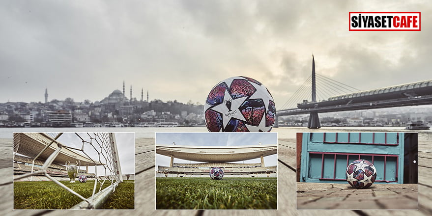 UEFA Şampiyonlar Ligi 2020 resmi maç topu için özel tasarım