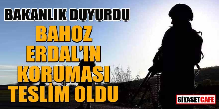 PKK terör örgütü yöneticisi Bahoz Erdal'ın koruması teslim oldu