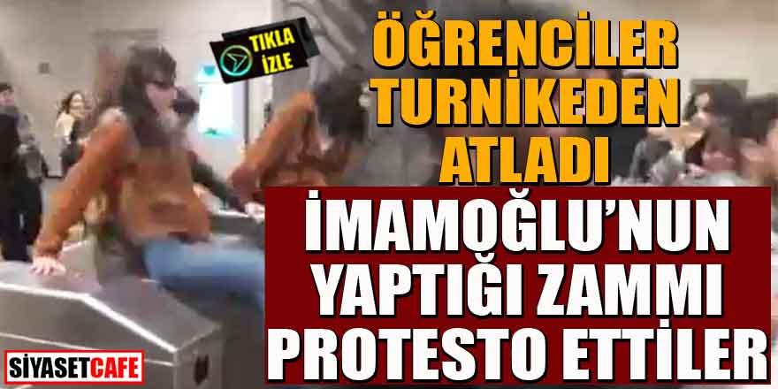 Öğrenciler, İmamoğlu'nun yaptığı zammı protesto ettiler
