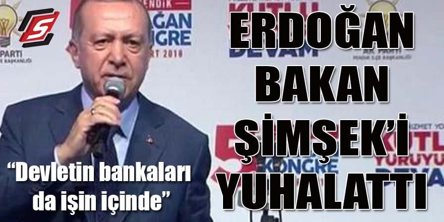 Erdoğan Bakan Şimşek'i yuhalattı