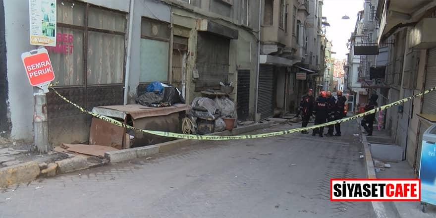 İstanbul Beyoğlu'ndabina çöktü!