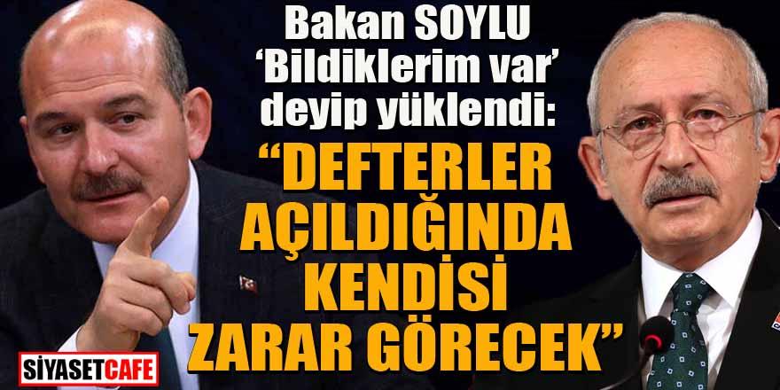 """Bakan Soylu """"Benim bildiklerim var"""" diyerek Kılıçdaroğlu'na yüklendi"""