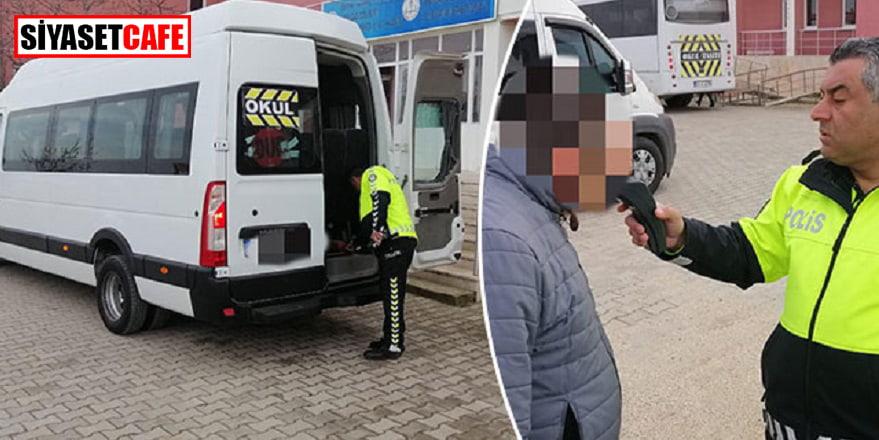 Servis şoförü alkollü çıktı, polisler çocukları okula bıraktı