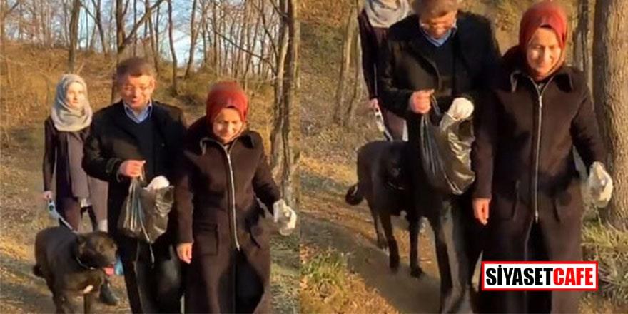 Ahmet Davutoğlu şimdide Tik Tok'dan çöp topladı