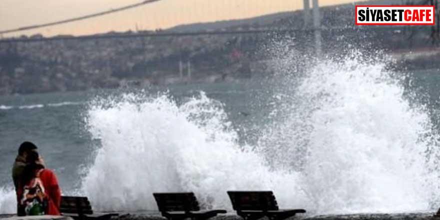 İstanbul için lodos fırtınası uyarısı!