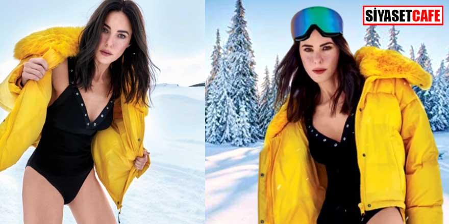 Defne Samyeli'nin kar pozları yürek hoplattı!