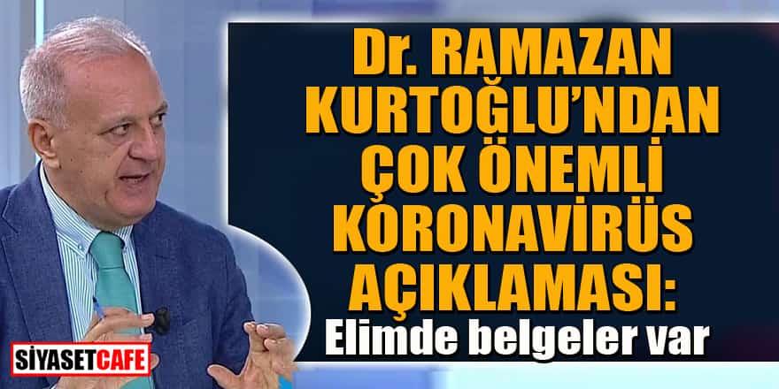 Dr. Ramazan Kurtoğlu'ndan çok önemli koronavirüs açıklaması