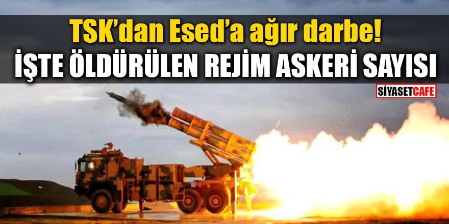 TSK'dan Esed'a ağır darbe! İşte öldürülen rejim askeri sayısı
