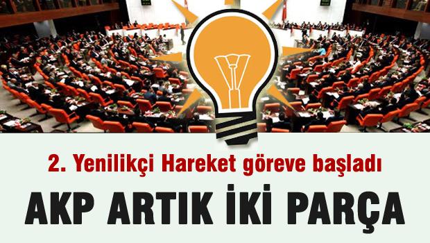 AKP Artık iki parça