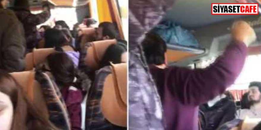 Otobüste öğrencilerle görevliler arasında ücret tartışması