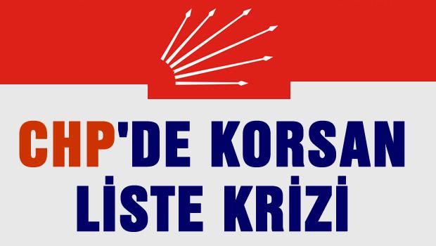 CHP'de korsan liste krizi